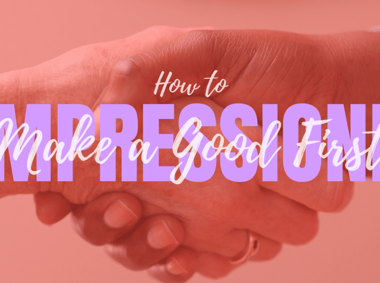 how to make a good first impression in a new job